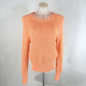 Free People Electric City Orange Knit L/S Pullover